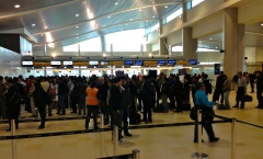 Long lines have not been improved by a new airport.