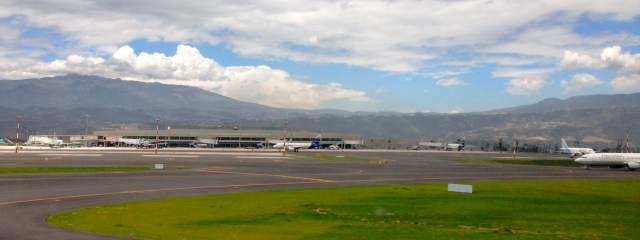 Quito's new Mariscal-Sucre International airport is over an hour drive from the city.