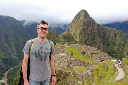 Bruno hikes Machu Pichu (ok that's not Ecuador, but it's next door).