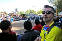 Bruno watched Ecua-volley in the park.
