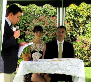 We got married under Ecuadorian law.
