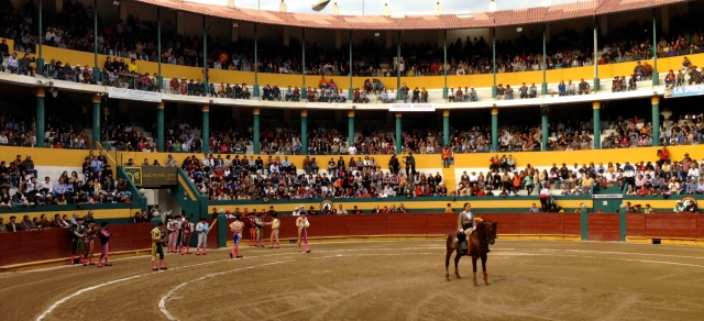 The opening ceremony for a bullfight in Riobamba, Ecuador.