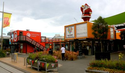 A mall made of shipping containers brings life back to downtown Christchurch.