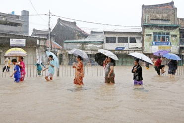 Floods brought Jakarta to a halt in January.